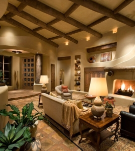 Lynda martin asid camelback interior design for Southwestern fireplaces