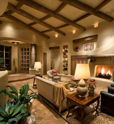 Southwestern Fireplace
