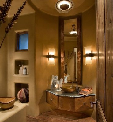 Southwestern Powder Room